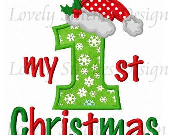 My 1st Christmas Applique Machine Embroidery Design NO:0473