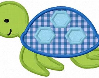 Turtle Boy Applique Machine Embroidery Design NO:0021