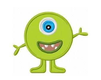 Cute Monster Applique Machine Embroidery Design NO:0111