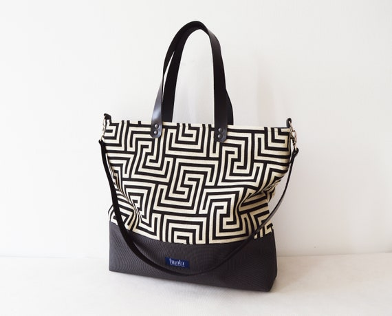 27f28a0ec7b9 Large canvas tote bag shopping bag casual tote school bag