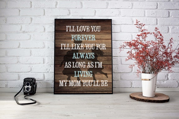 Mother And Daughter Quote Mother Daughter Poem Mothers Day Print Gift For Mom Mommy Quote Canvas Rustic Quote Mother Grandparents Day