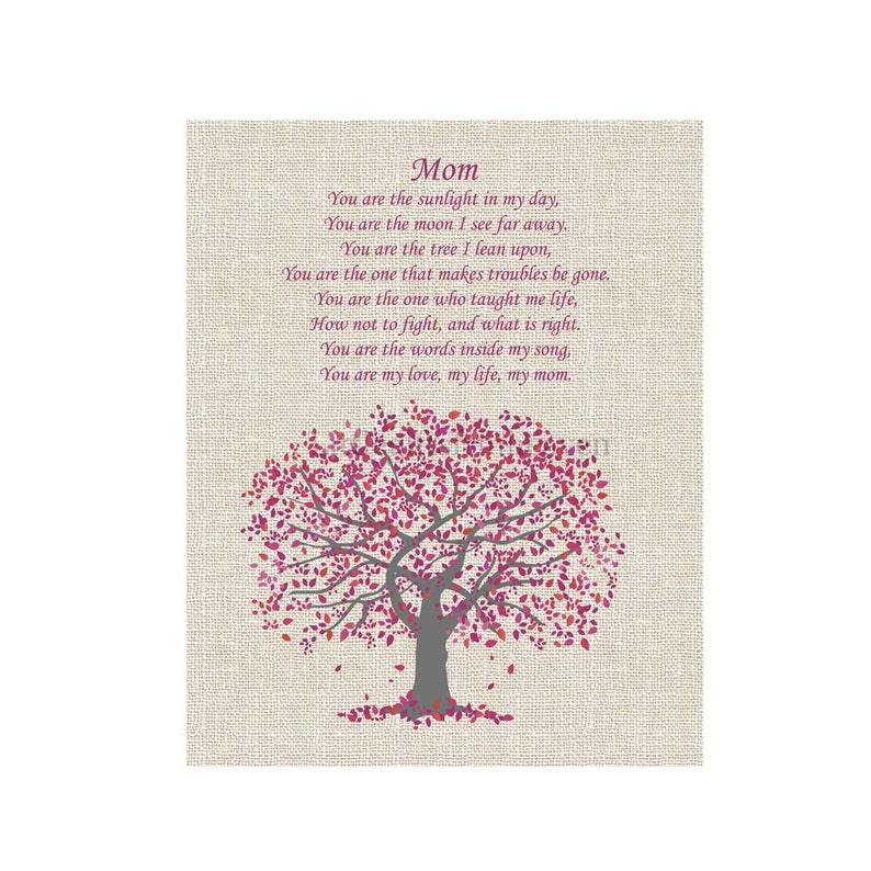 Mom Poem Tree Print poem for mother mothers day gift gift ...