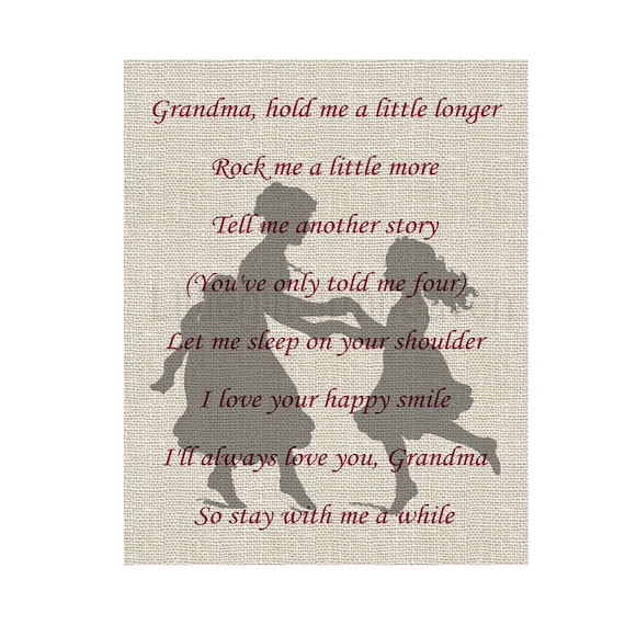 I Love You Grandma Quotes Gorgeous Items Similar To Poem For Grandma Quote About Mammaw Love You