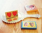 Kitschy Cute Double Heart Frame 1970s