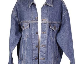 T11-24 levis herren jeans jacke 70507 trucker denim western jacket gr. xl  blau 79b19de83a