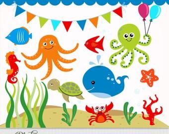 Sonnenschirm strand clipart  Sommer / Strand Clipart ClipArt / Sommer digitale Clipart   Etsy