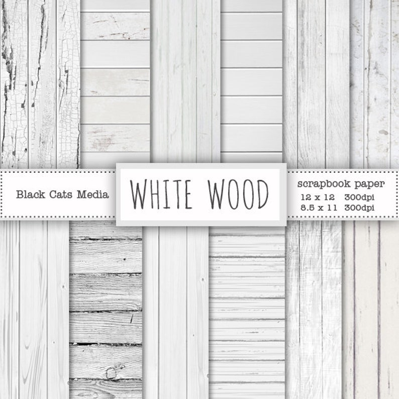 White wood paper Wood digital background White wooden image 0