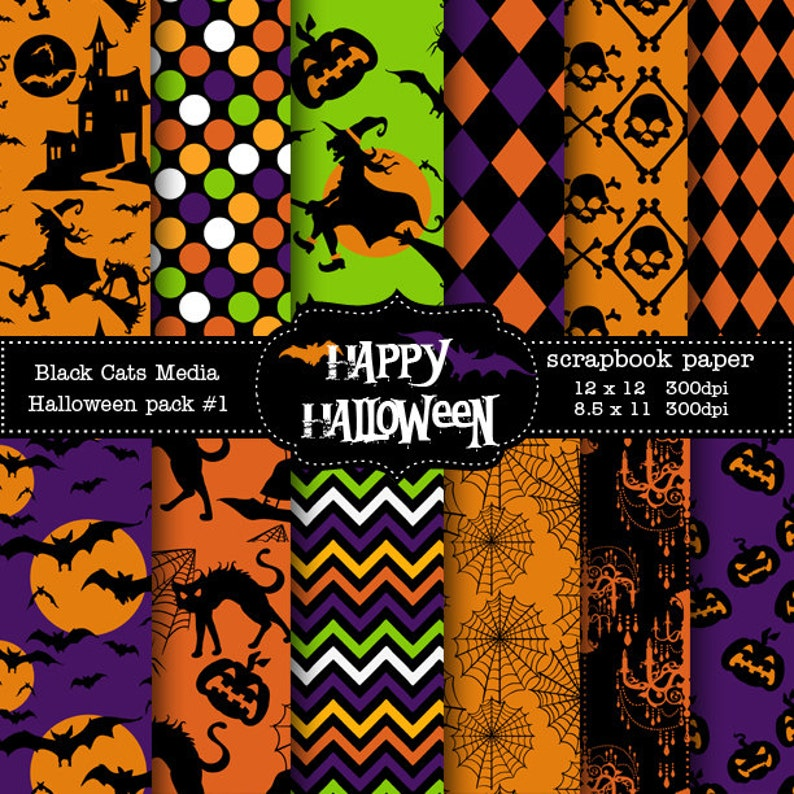picture regarding Printable Halloween Paper named Halloween Paper Printable - Halloween Occasion Paper- Instantaneous Down load 12 x 12 inside AND 8.5x11 within