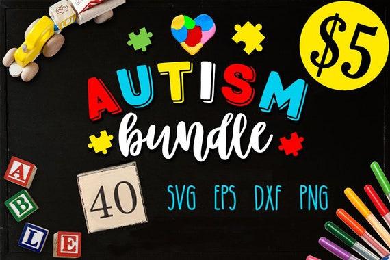 Autism Bundle 40 Autism Svg Autism Awareness Etsy