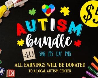 Autism Bundle - 40 autism SVG - Autism awareness