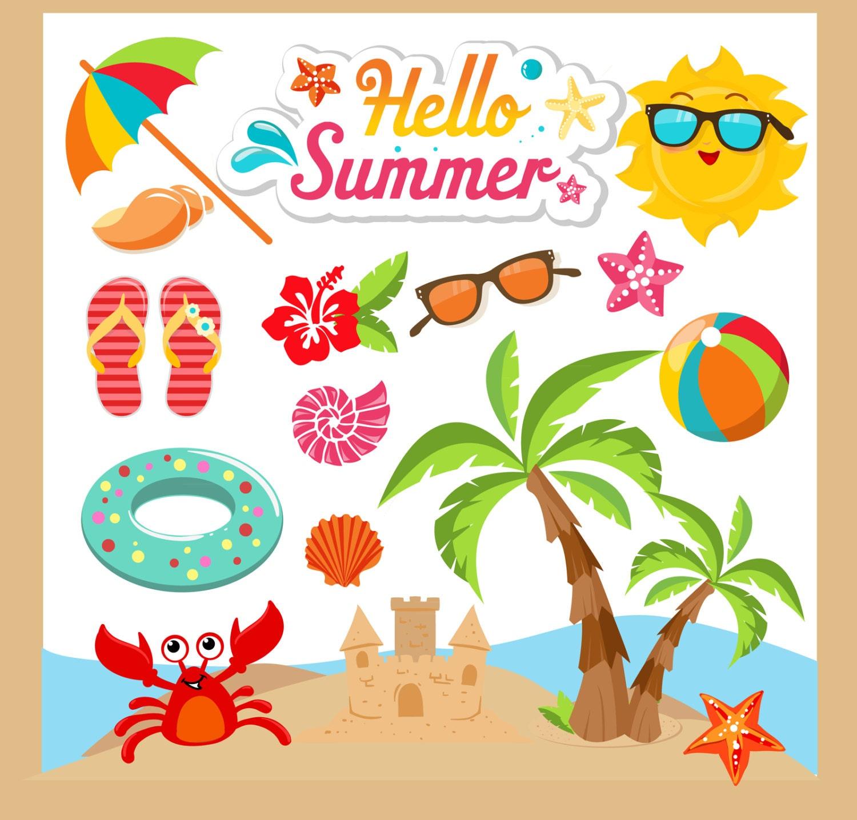 Summer Clipart Summer Clip Art Beach Clipart Beach Clip   Etsy