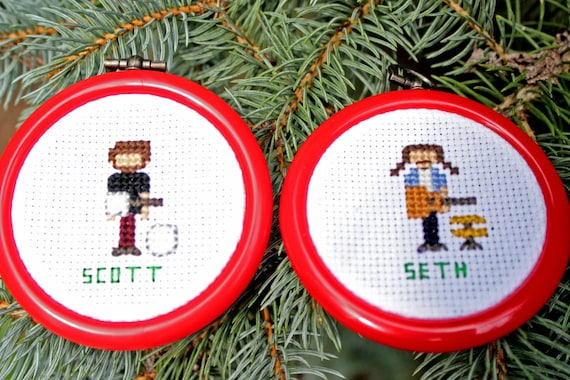 Set of Four Christmas Ornaments Cross Stitch Patterns