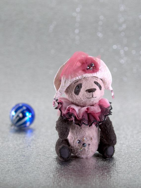 Christmas Artist Bear Artist Panda Teddy Stuffed Panda Bear Etsy