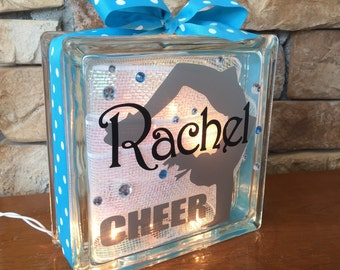 Cheerleader Handspring GemLight, Accessories, Cheerleader Gifts, Cheerleading Gifts, Sports Decor, Personalized