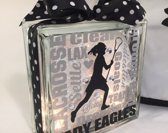 LAX Lacrosse Typography Gemlight, Gifts for lacrosse, lacrosse Coach Gifts, Sports Decor, Personalized