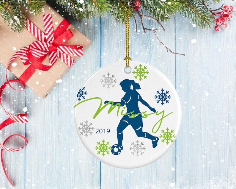 Soccer Ornament Soccer Ball Design Porcelain Ornament Gifts for Soccer