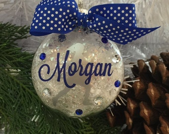 Lacrosse Girl Ornament, Personalized, Gifts for Lacrosse, LAX