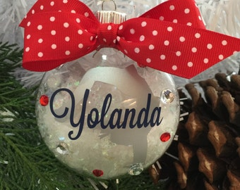 Cheerleader Handspring Ornament, Personalized