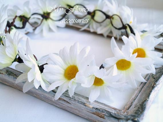 Flower Crown Halo Crown Daisy Chain Crown Daisy Headband Etsy