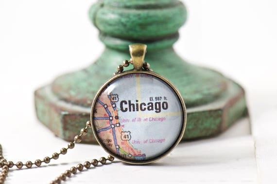 Travel map necklace world map personalize jewelry custom etsy image 0 gumiabroncs Choice Image