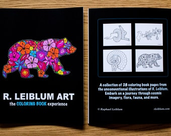 R LEIBLUM COLORING BOOKS 28 Pages Of Unique Illustrations For Your Coloring Enjoyment