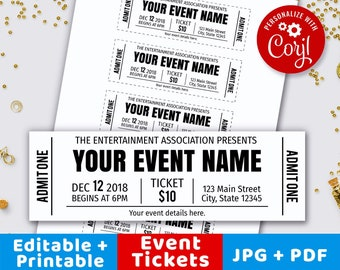 concert ticket etsy