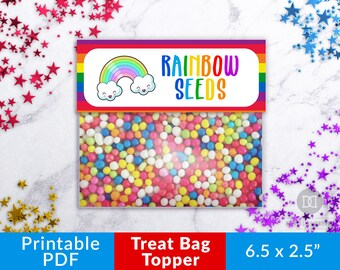 picture regarding Truffula Seeds Printable referred to as Rainbow seed tag Etsy