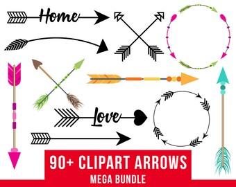 22 Arrows Clipart Rustic Arrow Clipart Arrow SVG Wedding | Etsy