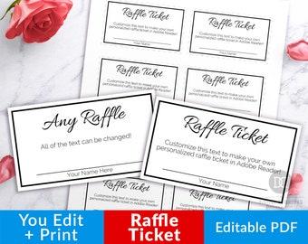 Raffle tickets | Etsy