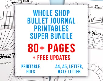 Bullet Journal Anxiety Printables Bundle Anxiety Tracker Etsy