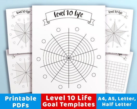 photograph about Level 10 Life Printable known as Position 10 Daily life Printable Package, Bullet Magazine Issue 10 Existence Template, Printable Stage 10 Everyday living Aims, Point 10 Wheel of Existence Printable PDF