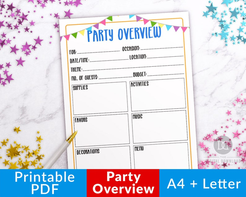 photo about Party Planning Printable named Social gathering Planner Printable- Evaluate, Birthday Get together Planner, Celebration Planner Template, Get together Organizer, Youngsters Get together Creating, Occasion Coming up with PDF