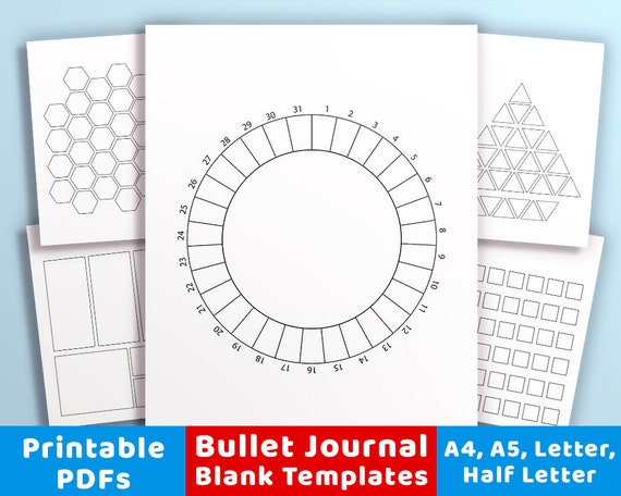 20 Bullet Journal Template Printables Bullet Journal Etsy