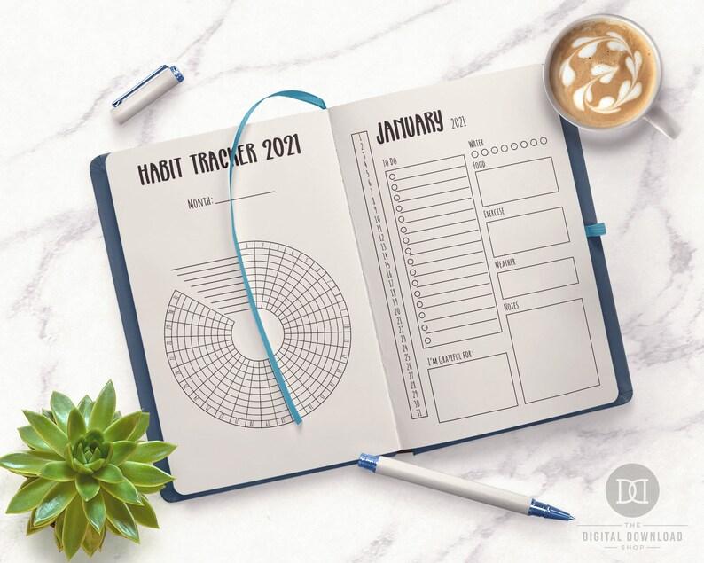 2021 Bullet Journal Printable 2021 Journal Starter Kit ...