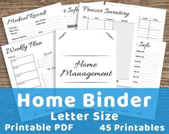 Home Management Binder Printable, Home Binder, Home Management Planner, Mom Binder, Household Binder, Family Binder, Mom Planner, Homemaking