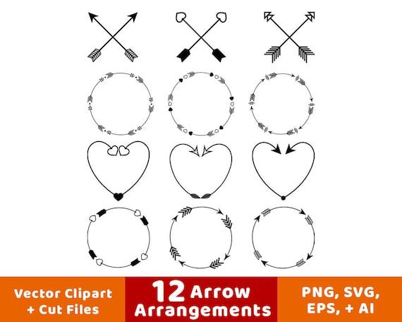 12 Arrows Clipart Arrow Wreath Rustic