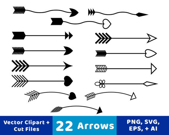 22 Arrows Clipart Rustic Arrow SVG Wedding