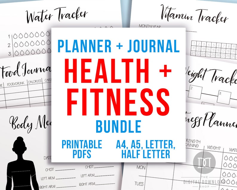 picture regarding Bullet Journal Weight Loss Tracker Printable named Bullet Magazine Exercise and Health and fitness Planner Printable Package deal, Bodyweight Decline Tracker, Work out Planner, Physical fitness Planner, Bujo Health and fitness Tracker