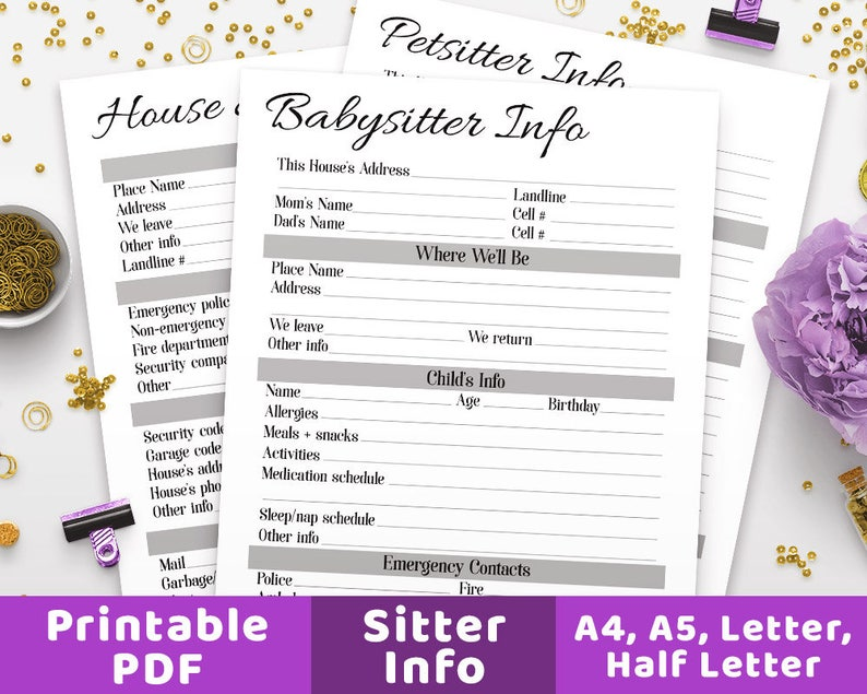 picture regarding Printable Coin Checklist called Sitter Printables, Babysitter Printable, Dwelling Sitter Information and facts, Puppy Sitter Printable, Sitter Guidance, Babysitter Record, Sitter Notes