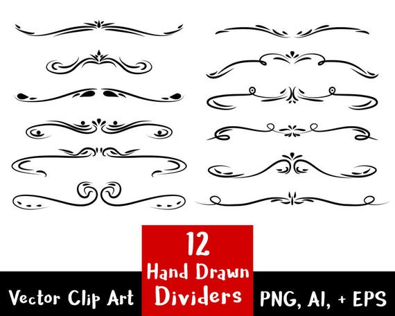 Wedding Clipart Page Divider Clipart Line Dividers Flourish