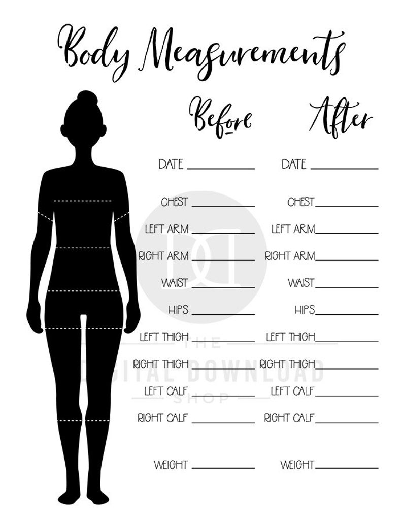 photograph about Printable Body Measurement Tracker named 2 Overall body Size Tracker Printables, Bullet Magazine System Dimensions Chart, Excess weight Decline Tracker, Physique Sizing Planner, Physical fitness Planner