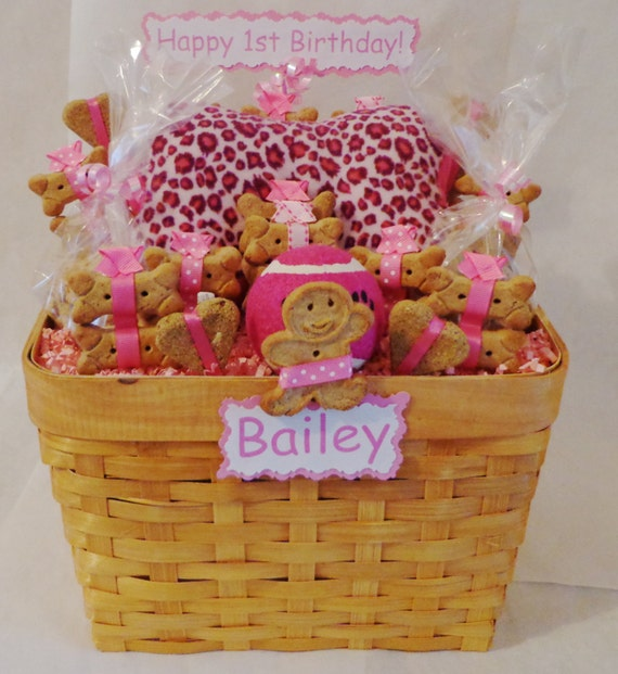 Dog Treat Gift Basket For Lovers Toys