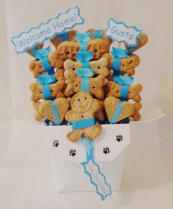 image 0 & Dog treat gift basket dog lovers gift personalized dog gift | Etsy