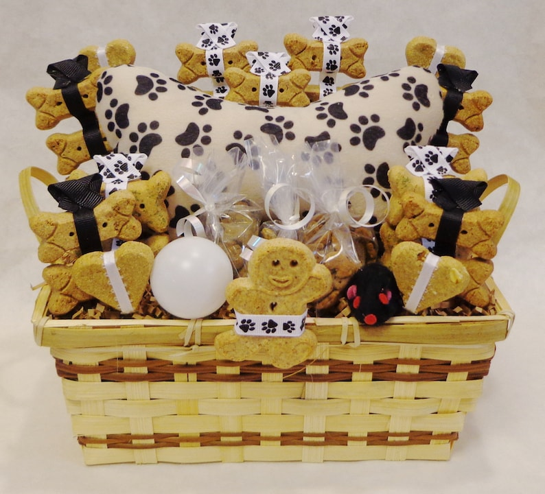 Dog And Cat Treat Gift Basket Dog Biscuits Dog Treats Cat Etsy