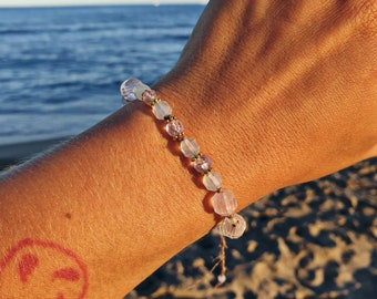 Here's to self love - Rose quartz bracelet