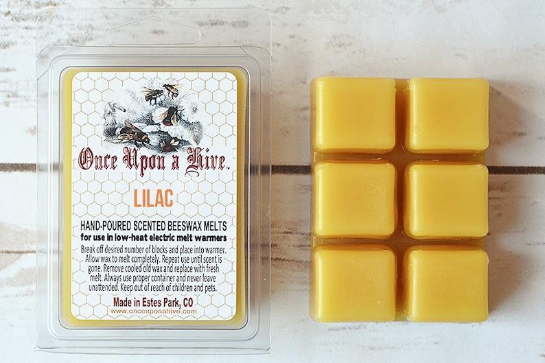 Lilac Beeswax Melts  3 oz.  Natural  Melt-Warmers  Wax image 0