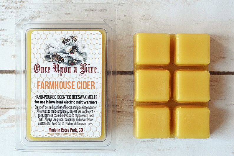 Farmhouse Cider Beeswax Melts  3 oz.  Natural  Melt-Warmers image 0