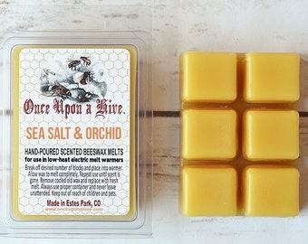Sea Salt & Orchid Beeswax Melts | 3 oz. | Natural | Melt-Warmers | Wax Melts | Scented