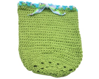 Preemie Cocoon  - Blue and Green - Gender Neutral