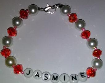 Jasmine Name Bracelet